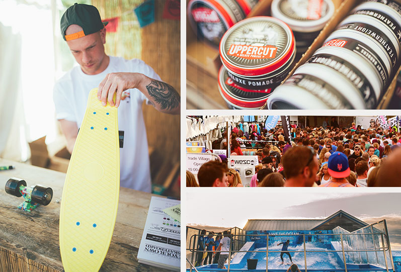 Boardmasters Festival 2015 Surf Village Skateboard Surf Wax Wave Pool