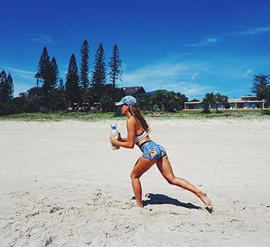 Sand Water Bottle Workout